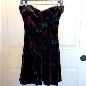 Betsey Johnson Floral Velvet dress